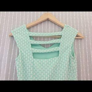 Summer sun dress mint green stretch cotton